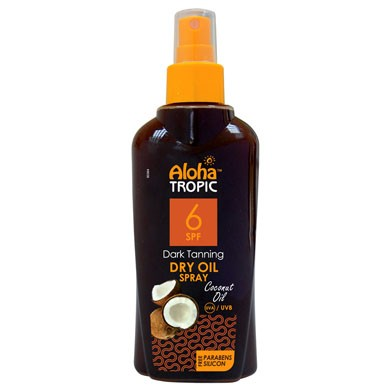 ALOHA DRY OIL SPF 6 (COCONUT) 200ml